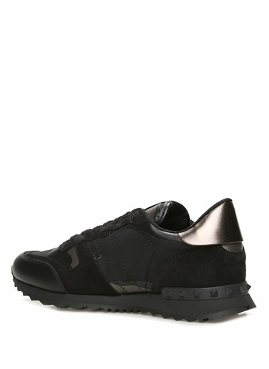 Valentino Garavani Valentino Garavani Noir  Kamuflaj Desenli Erkek Deri Sneaker 101424781 Siyah